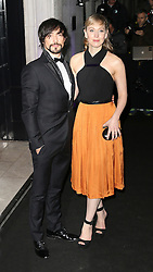 © Licensed to London News Pictures. Blake Ritson and Hattie Morahan attending the London Evening Standard Theatre Awards at the The Savoy Hotel in London, UK on 17 November 2013. Photo credit: Richard Goldschmidt/PiQtured/LNP