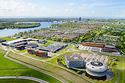 Nederland, Flevoland, Almere, 07-05-2015;  Veluwsekant met in de voorgrond Fashion Dome (business to business fashion center).<br /> New town Almere with business park.<br /> luchtfoto (toeslag op standard tarieven);<br /> aerial photo (additional fee required);<br /> copyright foto/photo Siebe Swart