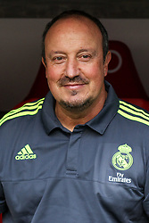 04.08.2015, Allianz Arena, Muenchen, GER, AUDI CUP, Real Madrid vs Tottenham Hotspur, im Bild Rafael Benitez (Real Madrid CF) // during the 2015 Audi Cup Match between Real Madrid and Tottenham Hotspur at the Allianz Arena in Muenchen, Germany on 2015/08/04. EXPA Pictures © 2015, PhotoCredit: EXPA/ Eibner-Pressefoto/ Schueler<br /> <br /> *****ATTENTION - OUT of GER*****