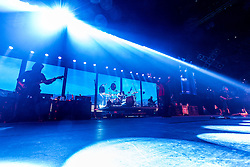 LOS ANGELES, CA - JUNE 20: Musicians Alex Gonzalez, Juan Caballeros, Fher Olvera and Sergio Vallin of  legendary Mexican Rock band Mana perfom on stage during their Cama Incendiada Tour at Staples Center on June 20, 2015 in Los Angeles, California. Byline, credit, TV usage, web usage or linkback must read SILVEXPHOTO.COM. Failure to byline correctly will incur double the agreed fee. Tel: +1 714 504 6870.