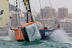 © Sander van der Borch.Alicante, 11 October 2008. Start of the Volvo Ocean Race. Ericsson 3 rounding the bottom mark.