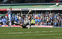 Photo: Mark Stephenson.<br /> Birmingham City v Coventry City. Coca Cola Championship. 01/04/2007.Birmingham's DJ Campbell fires the ball past Coventry's keeper Andy Marshall to make it 2-0