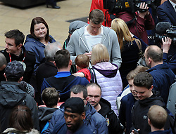 Bristol City's Aden Flint signs autographs - Photo mandatory by-line: Dougie Allward/JMP - Mobile: 07966 386802 - 11/03/2015 - SPORT - Football - Bristol - Cabot Circus Shopping Centre - Johnstone's Paint Trophy