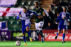 Liam Sercombe of Bristol Rovers is challenged by Byron Moore of Plymouth Argyle - Mandatory by-line: Ryan Hiscott/JMP - 17/12/2019 - FOOTBALL - Home Park - Plymouth, England - Plymouth Argyle v Bristol Rovers - Emirates FA Cup second round replay