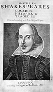 William Shakespeare (1564-1616) Title page from First Folio edition of 1623.