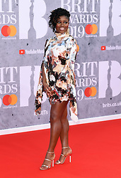 Clara Amfo attending the Brit Awards 2019 at the O2 Arena, London. Photo credit should read: Doug Peters/EMPICS Entertainment. EDITORIAL USE ONLY