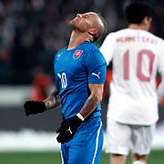 Slovakia's Miroslav Stoch during their a international friendly soccer match Turkey betwen Slovakia at Ataturk stadium in Bursa February 29, 2012. Photo by TURKPIX
