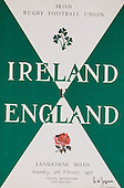 Rugby 1957-09/02 Five Nations Ireland Vs England