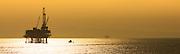 Offshore Oil Platform off the coast of Huntington Beach California