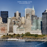 Lower Manhattan from a low-flying helicopter view