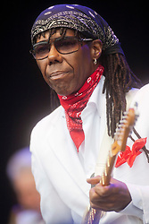 Chic feat. Nile Rodgers play the main stage..Rockness 2012..©Michael Schofield..