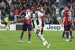 September 26, 2018 - Turin, Piedmont, Italy - Blaise Matuidi (Juventus FC) celebrates after scoring during the Serie A football match between Juventus FC and Bologna FC at Allianz Stadium on September 26, 2018 in Turin, Italy. .Juventus won 2-0 over Bologna. (Credit Image: © Massimiliano Ferraro/NurPhoto/ZUMA Press)