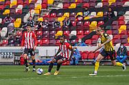 Brentford Midfielder Tariqe Fosu-Henry (#24) on the ball during the EFL Sky Bet Championship match between Brentford and Watford at Brentford Community Stadium, Brentford, England on 1 May 2021.