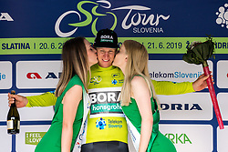 Pascal Ackermann (GER) of Bora - Hansgrohe at trophy ceremony after 1st Stage of 26th Tour of Slovenia 2019 cycling race between Ljubljana and Rogaska Slatina (171 km), on June 19, 2019 in  Slovenia. Photo by Matic Klansek Velej / Sportida