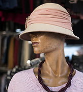 Gavirate. Lombardia. ITALY. General Views Friday Market. Hatted, Mannequin.   Italy<br />  <br /> Friday  30/12/2016<br /> <br /> © Peter SPURRIER,<br /> <br /> <br /> LEICA CAMERA AG - LEICA Q (Typ 116) - 1/320 - f1.7