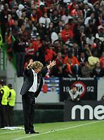20120409: LISBON, PORTUGAL -Portuguese Liga Zon Sagres 2011/2012 - Sporting CP vs SL Benfica.<br /> In picture: Benfica's Jorge Jesus, reacts.<br /> PHOTO: Alvaro Isidoro/CITYFILES