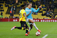 Watford midfielder Brandon Mason (32) and Burton Albion midfielder Marcus Harness (22) during the The FA Cup 3rd round match between Watford and Burton Albion at Vicarage Road, Watford, England on 7 January 2017. Photo by Richard Holmes.