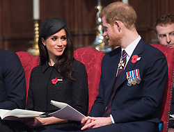 The Duke of Cambridge, Prince Harry and Meghan Markle attend an Anzac Day Service of Commemoration and Thanksgiving at Westminster Abbey, London, UK, on the 25th April 2018. Picture by Eddie Mulholland/WPA-Pool. 25 Apr 2018 Pictured: Meghan Markle, Prince Harry. Photo credit: MEGA TheMegaAgency.com +1 888 505 6342