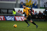 Robbie Willmott of Newport County in action.   EFL Skybet football league two match, Newport county v Exeter City  at Rodney Parade in Newport, South Wales on New Years Day, Monday 1st January 2018.<br /> pic by Andrew Orchard,  Andrew Orchard sports photography.
