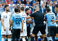 Luis Suarez (Uruguay) during a discussion between the two teams after a foul on Kylian Mbappe (France)<br /> Nizhny Novgorod 06-07-2018 Football FIFA World Cup Russia  2018 Uruguay - France / Uruguay - Francia <br /> Foto Matteo Ciambelli/Insidefoto
