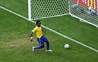 Photo: Chris Ratcliffe.<br /> Brazil v Ghana. Round 2, FIFA World Cup 2006. 27/06/2006.<br /> Ze Roberto of Brazil scoring the third goal.