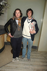 Left to right, RICHARD ASCOTT and PHIL COLBERT at the launch party for 'The End of Summer Ball' in Berkeley Square held at Nobu Berkeley, 15 Berkeley Street, London on 7th April 2008.<br /><br />NON EXCLUSIVE - WORLD RIGHTS