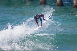 July 31, 2018 - Huntington Beach, California, United States - Huntington Beach, CA - Tuesday July 31, 2018: Peterson Crisanto in action during a World Surf League (WSL) Qualifying Series (QS) Men's round of 96 heat at the 2018 Vans U.S. Open of Surfing on South side of the Huntington Beach pier. (Credit Image: © Michael Janosz/ISIPhotos via ZUMA Wire)