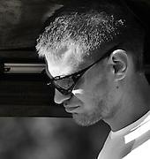 Banyoles, SPAIN,  CZE M1X,  SYNEK Ondrej, carrying his single.  FISA World Cup Rd 1. Lake Banyoles  28/05/2009   [Mandatory Credit. Peter Spurrier/Intersport Images]