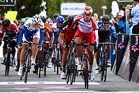 Arrival,  Alexander KRISTOFF (Nor) Katusha, winner, during the Artic Race Norway 2014, Stage 2, Honningsvag (Nor)- Alta (Nor) (207km) on August 15, 2014. Photo Tim de Waele / DPPI