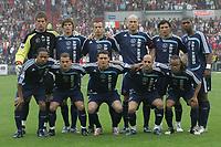 Fotball<br /> 07.05.2007<br /> Foto: imago/Digitalsport<br /> NORWAY ONLY<br /> <br /> Lagbilde Ajax<br /> <br /> Mannschaftsbild Ajax Amsterdam, hi.v.li.: Maarten Stekelenburg, Klaas Jan Huntelaar, Johnny Heitinga, Jaap Stam, George Ogararu, Ryan Babel, vorn: Urby Emanuelson, Wesley Sneijder, Thomas Vermaelen, Gabri, Edgar Davids