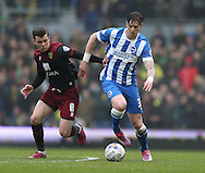 Greg Halford, Brighton defender during the Sky Bet Championship match between Brighton and Hove Albion and Norwich City at the American Express Community Stadium, Brighton and Hove, England on 3 April 2015.