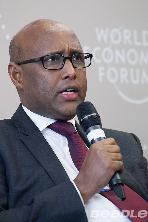 Adan Mohamed, Cabinet Secretary for Industry, Trade and Cooperatives<br /> Ministry of Industry, Trade and Cooperatives of Kenya at the World Economic Forum on Africa 2017 in Durban, South Africa. Copyright by World Economic Forum / Greg Beadle