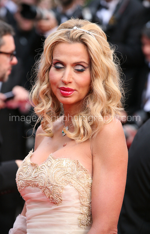 Valerie Marini at the the Grace of Monaco gala screening and opening ceremony red carpet at the 67th Cannes Film Festival France. Wednesday 14th May 2014 in Cannes Film Festival, France.