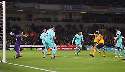 Wolverhampton Wanderers and Newcastle United in action