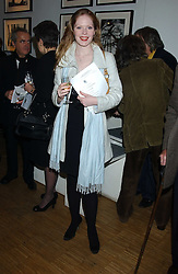 """Actress SICILY TENNANT at an exhibition of photographs by Janie Rayne in collaboration with Roy Snell entitled  """"Shadow and Reflection' held at The Muse, 269 Portobello Road, London W11 on 6th March 2006.<br /><br />NON EXCLUSIVE - WORLD RIGHTS"""