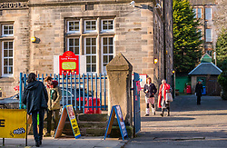 Leith, Edinburgh, Scotland, United Kingdom, 11 April 2019. Leith Walk Council By-Election: Voters at the Leith Ward council by-election at one of the polling stations at Lorne Primary School, which is taking place as a result of the resignation of Councillor Marion Donaldson. The election fields 11 candidates, including the first ever candidate for the For Britain Movement in Scotland, Paul Stirling.  The For Britain Movement was founded by former UKIP leadership candidate Anne Marie Waters in March 2018. <br /> <br /> Sally Anderson/ Edinburgh Elite Media