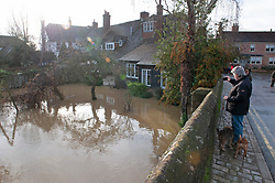 ©Licensed to London News Pictures 22/12/2019. <br /> Yalding ,UK. Water from the River Beult flooding the High Street area, Yalding Village.  The River Medway and River Beult have bursts their banks causing severe flooding in Yalding village,Kent. Photo credit: Grant Falvey/LNP