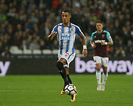 Tom Ince of Huddersfield Town in action.  Premier league match, West Ham Utd v Huddersfield Town at the London Stadium, Queen Elizabeth Olympic Park in London on Monday 11th September 2017.<br /> pic by Kieran Clarke, Andrew Orchard sports photography.