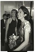 EILEEN GUGGENHEIM, GHISLAINE MAXWELL,   NY Academy of Art benefit. Manhattan 1996