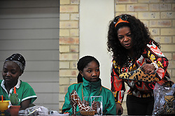 4833<br /> 09.6.17<br /> Oprah Winfrey inspected some wire and bead work when she visited a class during Oprah Winfrey Leadership Academy for Girls' Arts Workshop week, during which the students were given a taste of a variety of disciplines in the arts. The school in Henley-On-Klip, has about 300 pupils from disadvantaged backgrounds, all of whom have shown academic promise.<br /> Picture: Cara Viereckl