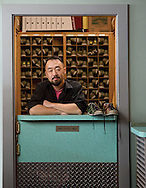 Tom Kimura at Ten Pin Alley for the Columbus Monthly singles issue. (Will Shilling/Columbus Monthly)