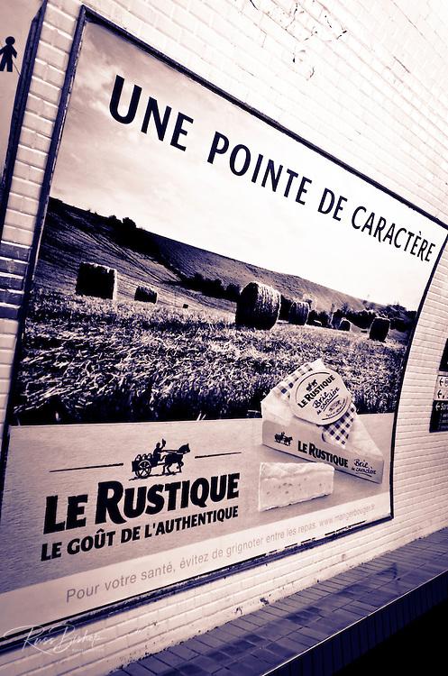 Metro station advertisement, Paris, France