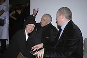 Bettina von Hase, Sir Howard Hodgkin and Antony Peattie, Vogue 90th birthday party and to celebrate the Vogue List, Serpentine Gallery. London. 8 November 2006. ONE TIME USE ONLY - DO NOT ARCHIVE  © Copyright Photograph by Dafydd Jones 66 Stockwell Park Rd. London SW9 0DA Tel 020 7733 0108 www.dafjones.com