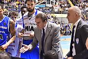Carlo Recalcati<br /> Fiat Torino - Mia Cantu<br /> Lega Basket Serie A 2016/2017<br /> Torino 26/03/2017<br /> Foto Ciamillo-Castoria