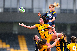 A thrown goes loose in the lineout - Mandatory by-line: Nick Browning/JMP - 24/10/2020 - RUGBY - Sixways Stadium - Worcester, England - Worcester Warriors Women v Wasps FC Ladies - Allianz Premier 15s