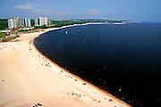 Manaus_AM, Brasil...Vista da praia da Ponta Negra as margens do Rio Negro em Manaus, Amazonas...The view from the Ponta Negra beach in the Negro River, Amazonas...Foto: JOAO MARCOS ROSA / NITRO