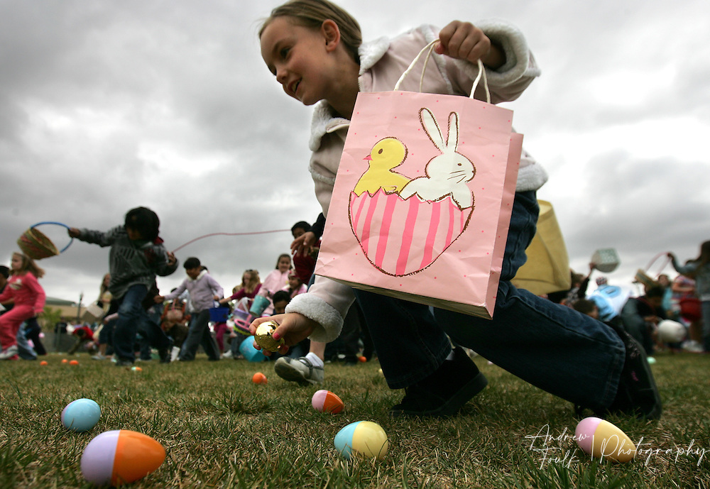 /Andrew Foulk/ For the Californian/.The 8-year-old group of egg hunters at Town Square Park in Murrieta during the cities annual spring Eggstravaganza take to the hunt area and try and grab as many eggs as their hands can hold. The event featured a pancake breakfast, games and an Easter egg hunt for each age level.