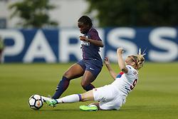 May 18, 2018 - Saint Germain En Laye, France - Sandy Baltimore (PSG ) vs Eugenie Le Sommer  (Credit Image: © Panoramic via ZUMA Press)