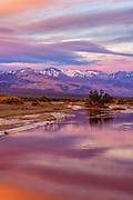 The Panamint Range and Amargosa River at Dawn, Death Valley National Park, California