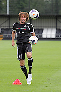 Michu of Swansea city in action. Swansea city FC team training in Llandore, Swansea,South Wales on Thursday 15th August 2013. The team are preparing for the opening weekend of the Barclays premier league when they face Man Utd. pic by David Richards,  Andrew Orchard sports photography,